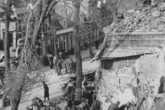 Verwoestingen binnenstad