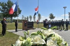 Herdenking bij Frans monument