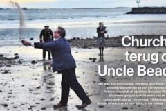 Churchill terug op Uncle Beach